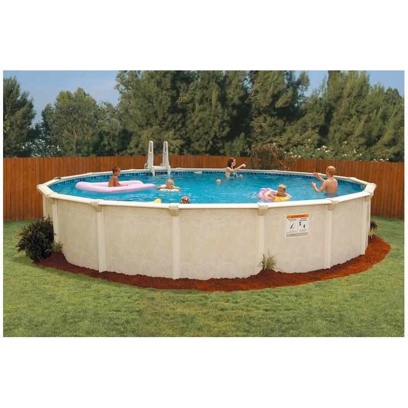Zwembad rond 460cm x 135cm hoog geleverd met zandfilter - Rond het zwembad ...