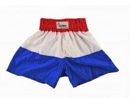 Kickbox broekje rood/wit/blauw