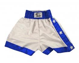 Kickbox broekje Wit Blauw Met Sterren
