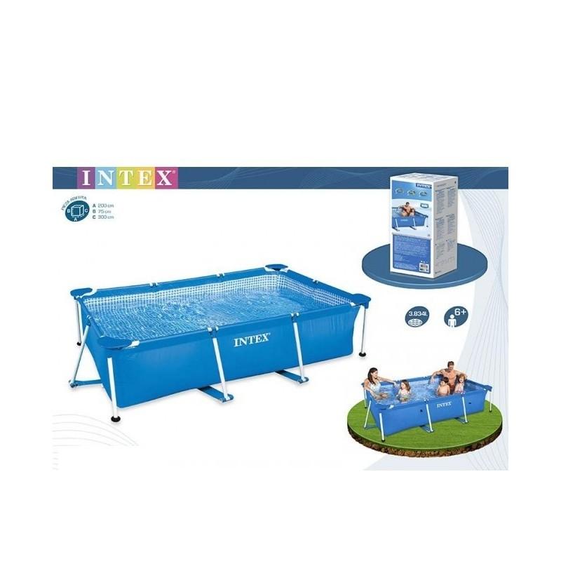 Intex zwembad 300 kleine kastjes voor aan de muur for Zwembad rechthoekig met pomp