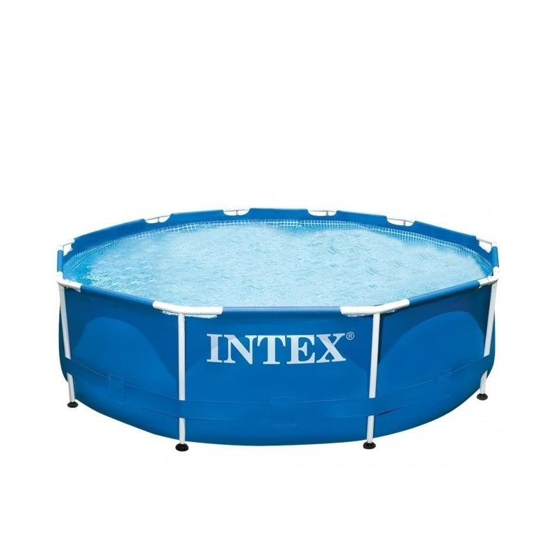 Intex zwembad zonder pomp halve parasol for Filterpomp zwembad intex