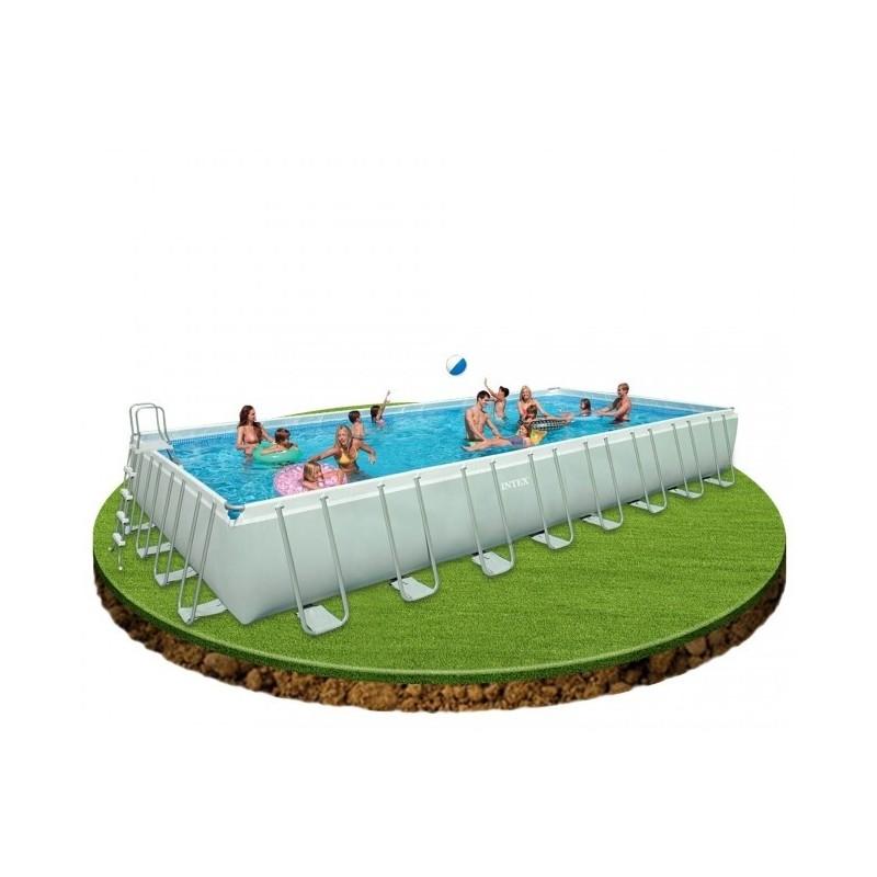 Intex pool 366 intex metal frame pool 366 x 76 cm 28212gn for Obi rundpool
