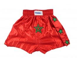 Kickbox broekje Marokkaanse vlag