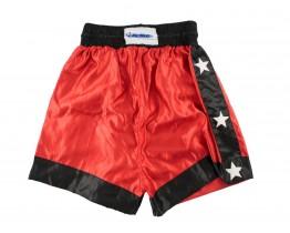 Kickboks broekje Rood Zwart Met Sterren