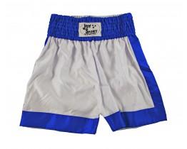 Kickbox broekje Wit Blauw