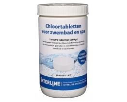 Interline Chloortabletten 1kg - Long90 200gram