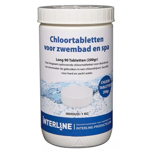 Interline Chloortabletten (200grams) 1KG