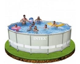 Intex 488 x 122 cm Ultra Frame Rond MET ZANDFILTER